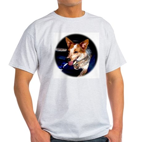 Red Heeler Ash Grey T-Shirt