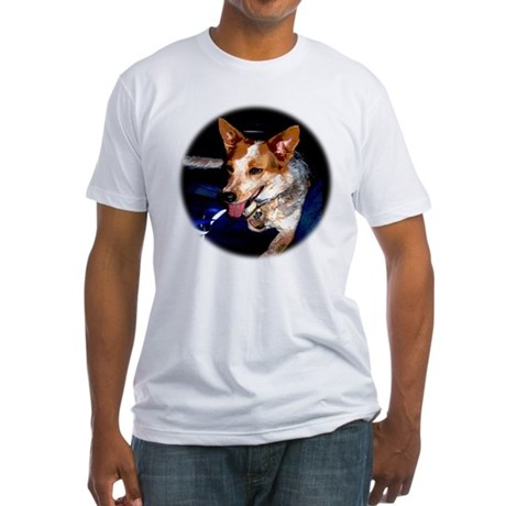 Red Heeler Fitted T-Shirt