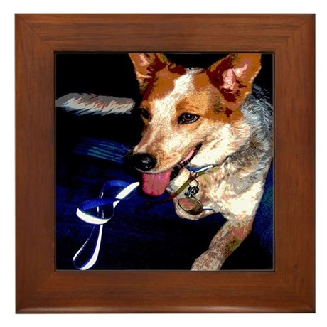 Red Heeler Framed Tile