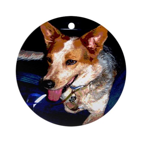 Red Heeler Ornament (Round)