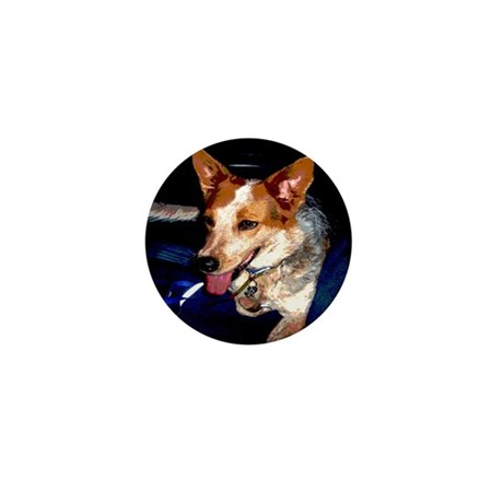 Red Heeler Mini Button