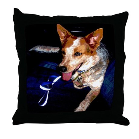 Red Heeler Throw Pillow