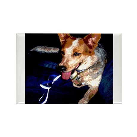 Red Heeler Rectangle Magnet