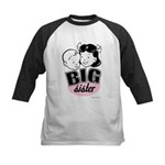 Big Sister - Retro Black Kids Baseball Jersey