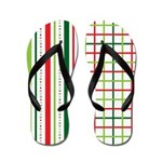 Stripes and Plaid Holiday Flip Flops