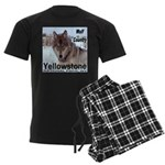 Wolf YNP, Wyoming Men's Dark Pajamas