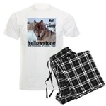 Wolf YNP, Wyoming Men's Light Pajamas