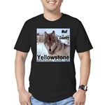 Wolf YNP, Wyoming Men's Fitted T-Shirt (dark)