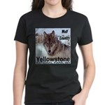 Wolf YNP, Wyoming Women's Dark T-Shirt