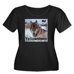 Wolf YNP, Wyoming Women's Plus Size Scoop Neck Dar