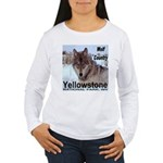 Wolf YNP, Wyoming Women's Long Sleeve T-Shirt