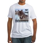 Wolf YNP, Wyoming Fitted T-Shirt