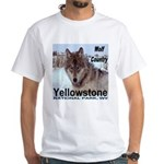 Wolf YNP, Wyoming White T-Shirt
