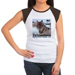 Wolf YNP, Wyoming Women's Cap Sleeve T-Shirt