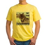 Wolf YNP, Wyoming Yellow T-Shirt