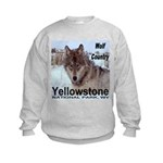 Wolf YNP, Wyoming Kids Sweatshirt