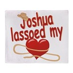 Joshua Lassoed My Heart Throw Blanket