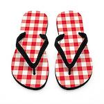 Red Gingham Flip Flops