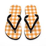 Orange Gingham Flip Flops
