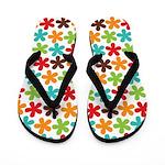 Bright Little Flowers Flip Flops