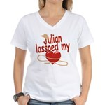 Julian Lassoed My Heart Women's V-Neck T-Shirt