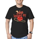 Julian Lassoed My Heart Men's Fitted T-Shirt (dark