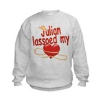 Julian Lassoed My Heart Kids Sweatshirt