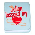 Julian Lassoed My Heart baby blanket