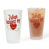 Julian Lassoed My Heart Drinking Glass