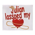 Julian Lassoed My Heart Throw Blanket