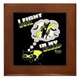 I Fight Evil Framed Tile