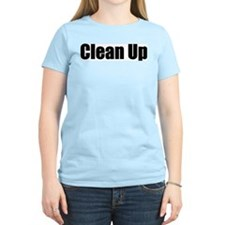"""Clean Up"" Women's Pink T-Shirt"