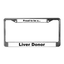 License Plate Frame Liver Donor