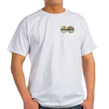 Travel Addict 'Style 2' Ash Grey T-Shirt