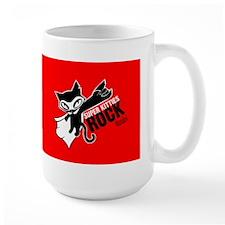 Super Kitties Rock Large Mug