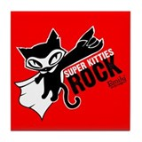 Super Kitties Rock Tile Coaster