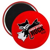 Super Kitties Rock Magnet