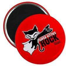 Super Kitties Rock Magnet