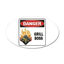 Grill Boss 22x14 Oval Wall Peel