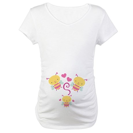 Honey Bee Family Maternity T-Shirt