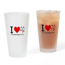 I (heart) Dice Drinking Glass