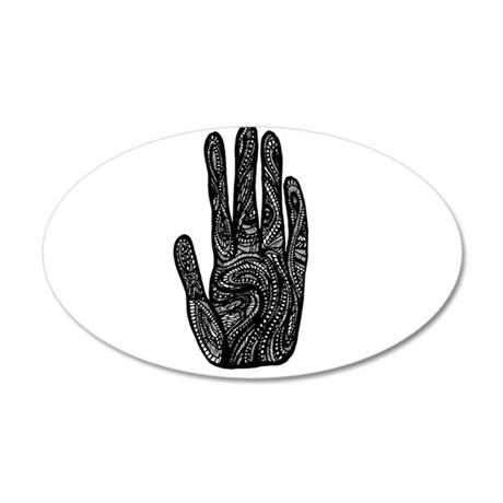 African Style Hand 38.5 x 24.5 Oval Wall Peel