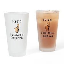 Thumb War Drinking Glass