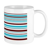 Blue & Brown Stripes Mug