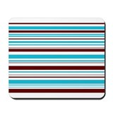 Blue & Brown Stripes Mousepad