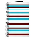 Blue & Brown Stripes Journal