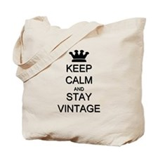 Keep Calm and Stay Vintage Tote Bag
