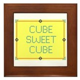 Cube Sweet Cube Framed Tile