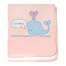Cute Whale baby blanket