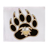 Jester Bear Paw Throw Blanket